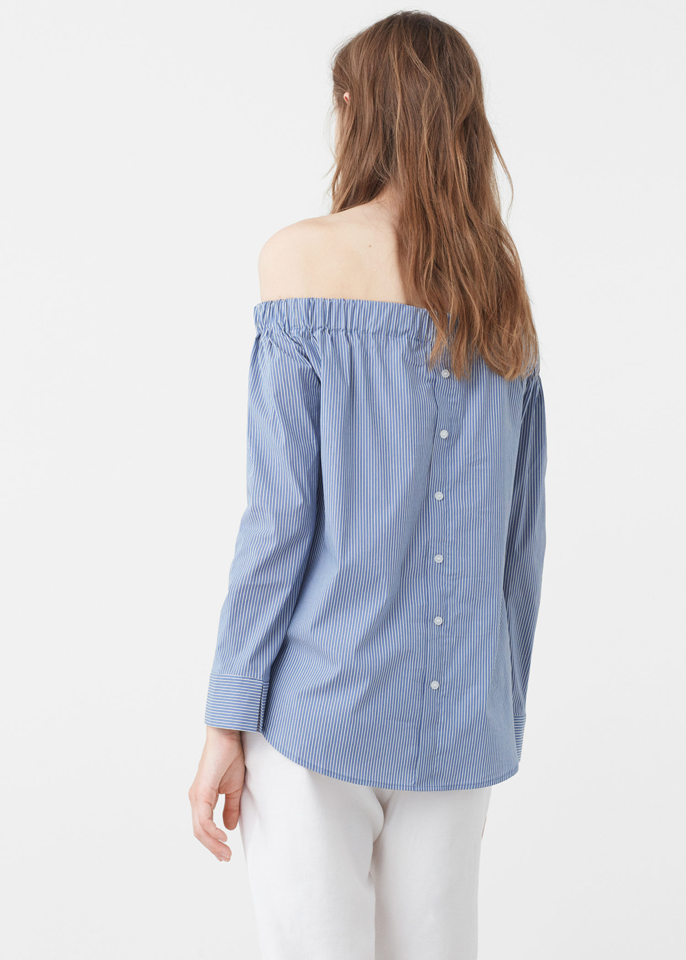 MANGO Blusa off-shoulder