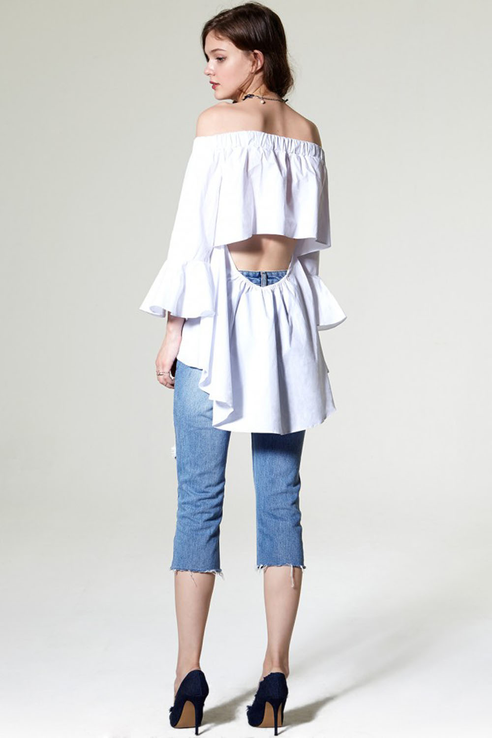 Storets New Back Cut Out Off-The-Shoulder Top