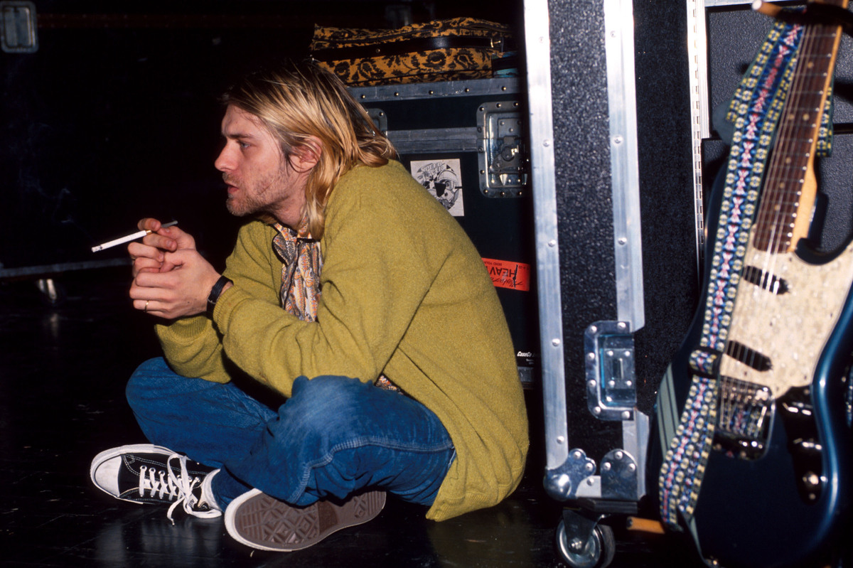 Kurt Cobain con sus Chucks. Foto: Huffington Post.