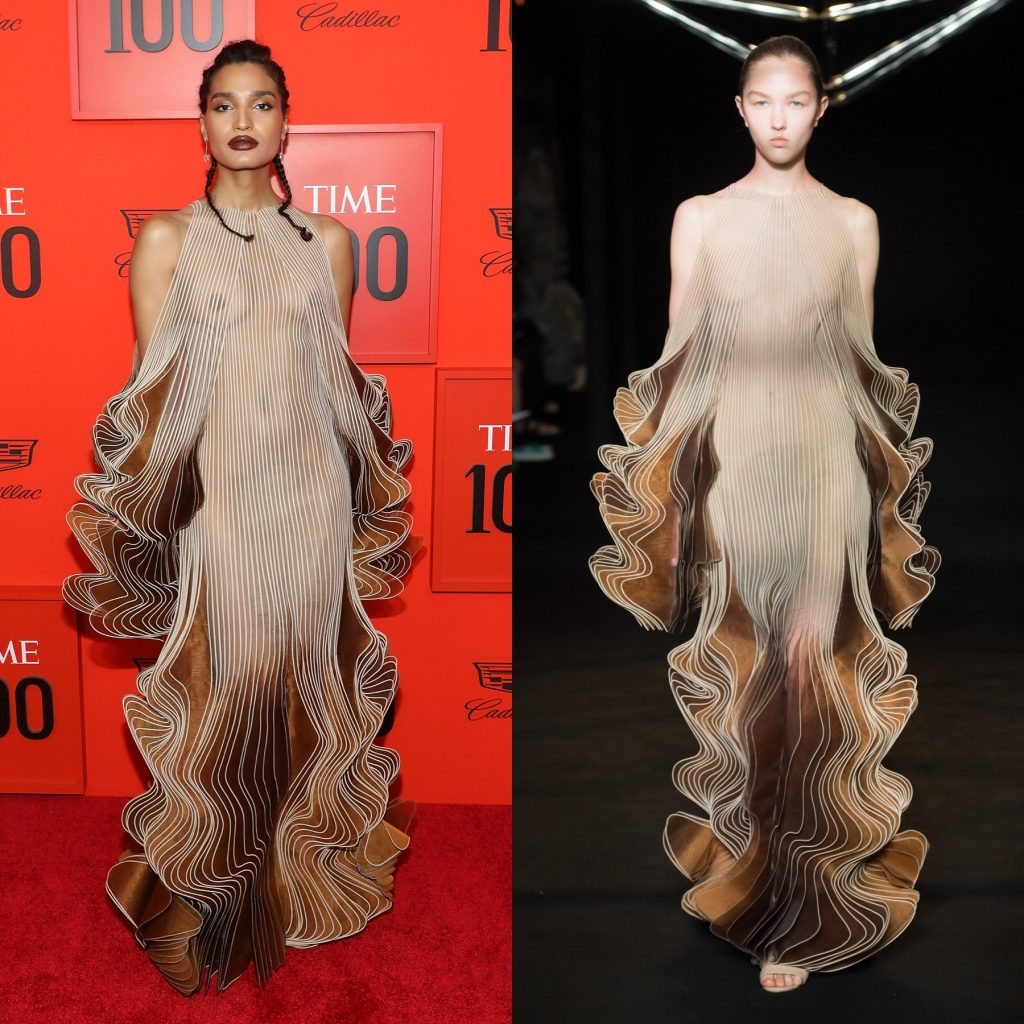 mirada couture fashionbreak fashion break kitkat gluten indya moore iris van herpen