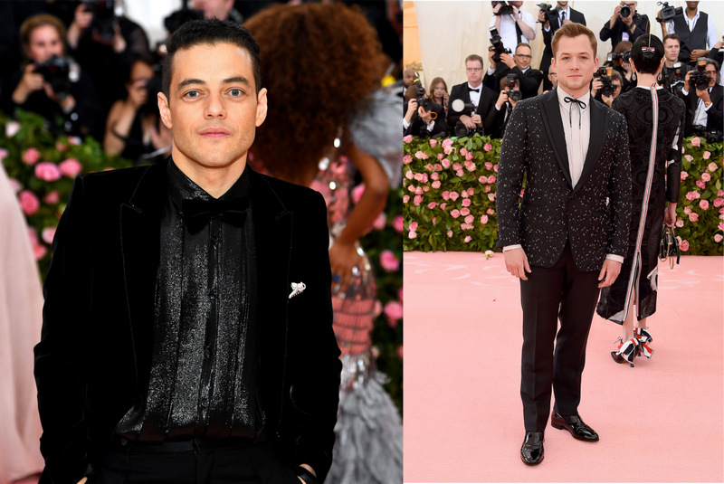 mirada couture met camp notes on fashion fashionbreak rami malek taron egerton